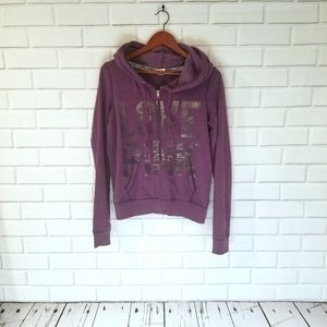 Victoria Secret zipup hoodie size medium